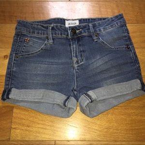 Hudson   Rolled Hem Stretch Jean Shorts Girl 12